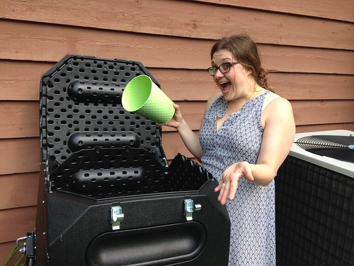 Jen is Excited About New Composter