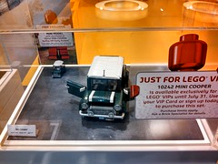 Mini Coopers store display