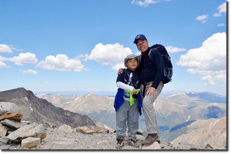 Jacob & me on the summit of Grays Peak