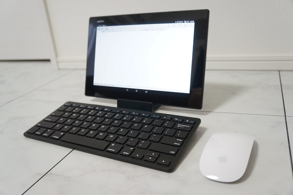 BluetoothキーボードとマウスをXperia Z2 Tabletに接続