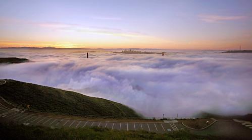 california fog clouds dawn marin goldengatebridge goldengate marincounty judah ggnra goldengatenationalrecreationarea hawkhill judahglass photographybyjudahglass photographybyjudah