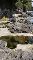 stream, water, river, tide pool, body of water, geology, shore, landscape, wilderness, wadi, stream bed, coast, rock,