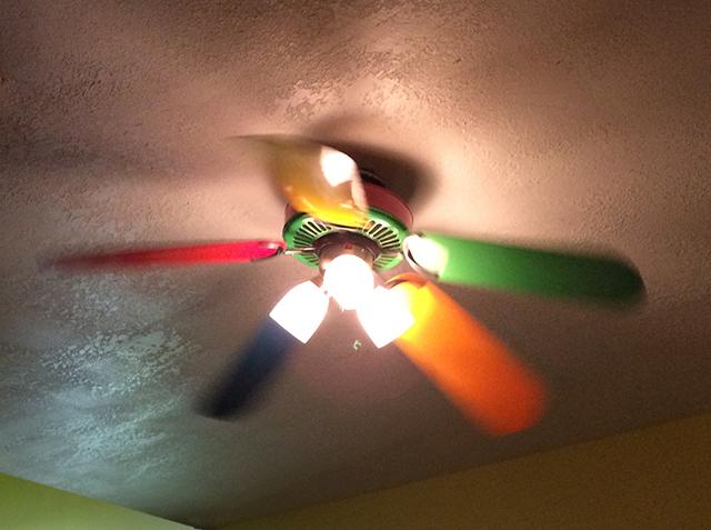 rainbow ceiling fan