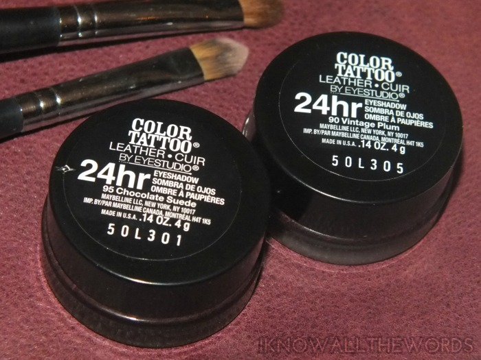 maybelline colour tattoo leather- chocolate suede and vintage plum (1)