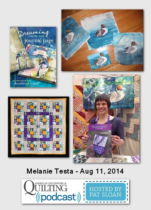 Pat Sloan American Patchwork and Quilting radio Melaine Testa Aug 2014 guest