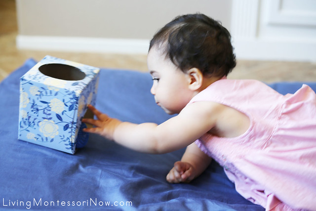 Using the DIY Montessori Object Permanence Box