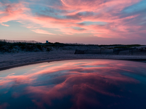 sky abstract reflection colors clouds sunrise dawn cloudy surreal jonesbeach ricohgrdiv