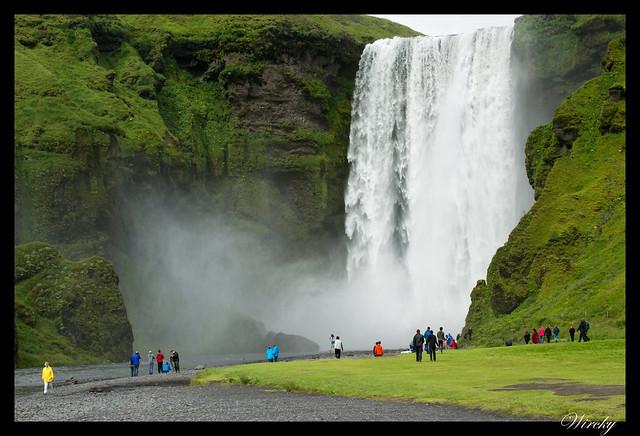 Islandia cascada Seljalandsfoss Skógafoss Vík - Cascada Skógarfoss