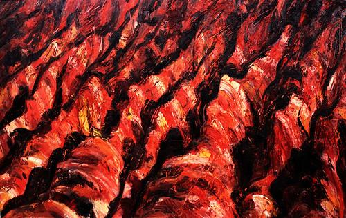 11.和丽斌作品《逐日· 另一面》布面油画 300×190cm 2013年