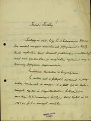 031. IV. Károly levele Horthy Miklós kormányzónak a királykérdésről