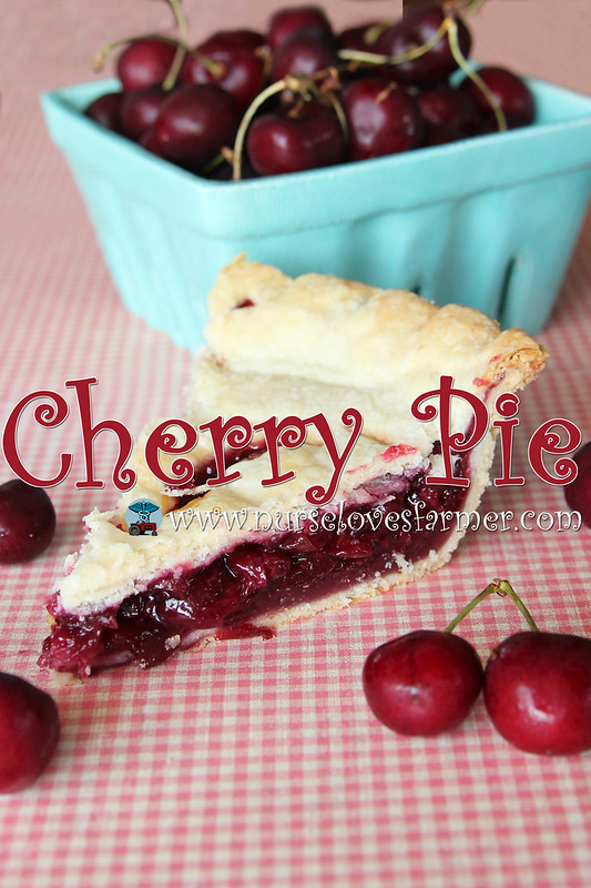 Cherry Pie. This sweet cherry pie is a great way to use your fresh cherries from the summer, or a great way to have a little taste of summer year round.