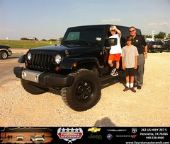 #HappyAnniversary to Tom Knight  on your 2012 #Jeep #Wrangler Unlimited from Zach Nichols at Four Stars Auto Ranch!