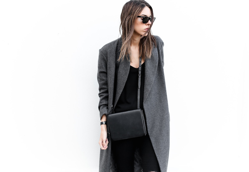modern legacy fashion blog Australia street style off duty ASOS long grey oversized coat Lee ripped knee black skinny jeans Helmut Lang oxfords Alexander Wang Prisma bag (7 of 13)