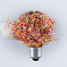 Exploding light bulb 2 - hundreds & thousands by Leigh Feaviour