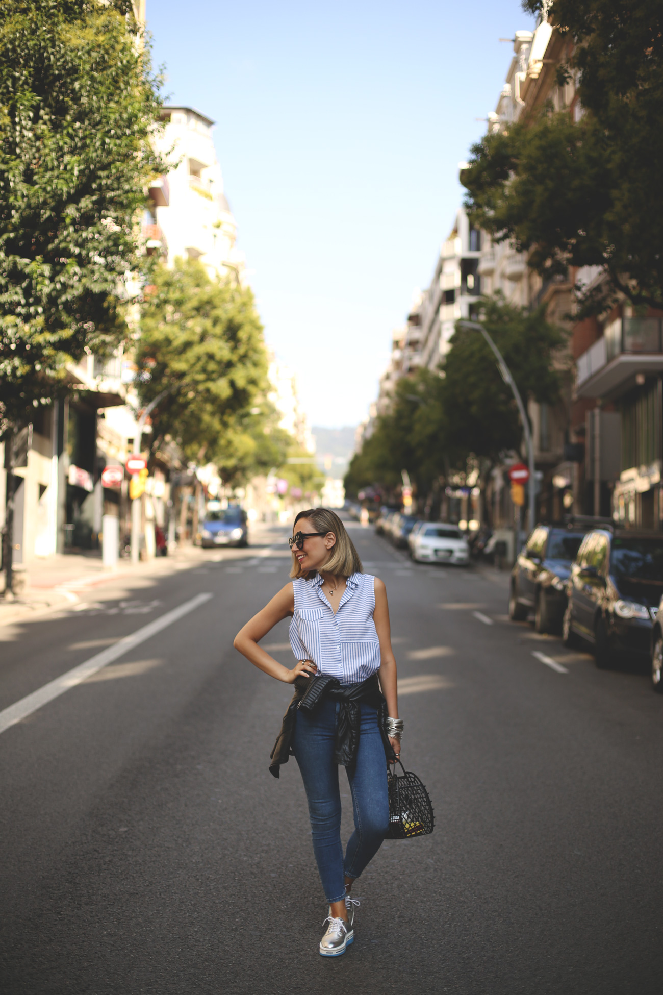 blonde girl, high waist, look jeans, cat eye, fashion blogger, spanish blog, priscila betancort, my showroom, blog de moda, trendy style,