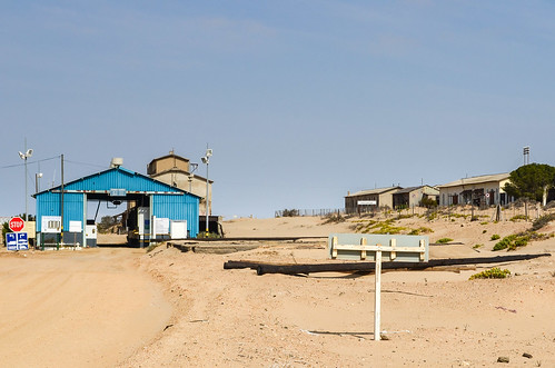 Entrance checkpoint to the Elizabeth Bay diamond mine near Lüderitz