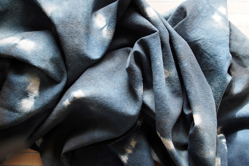 Hand-dyed fabric
