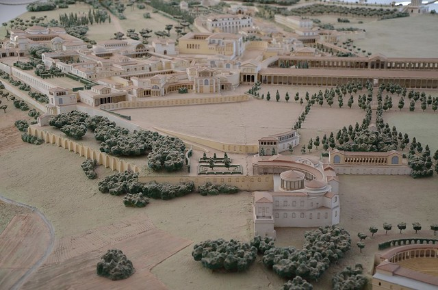 Plastic model of Hadrian's Villa