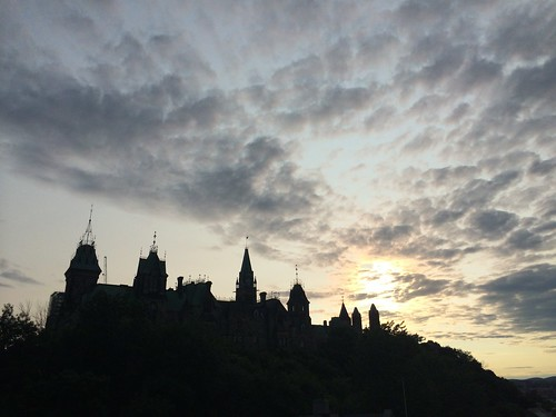 Sun sets over Ottawa