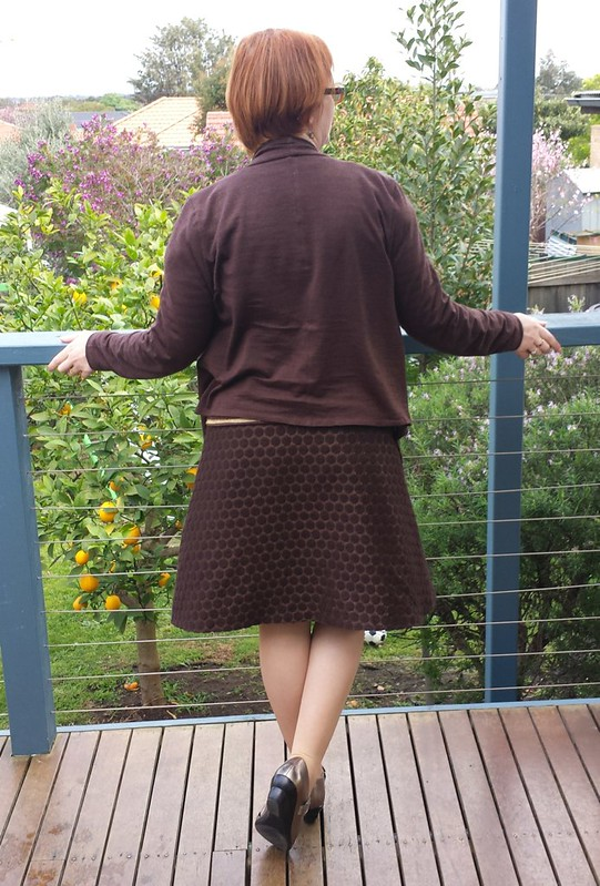 Style Arc Harper jacket with You Sew Girl! A-line Skirt
