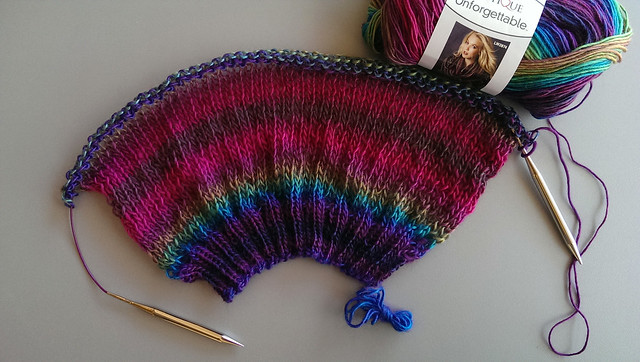 working on my first sweater...