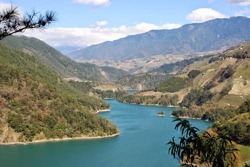 德基水庫上方梨山地區的開發。圖片來源: I-Ta Tsai