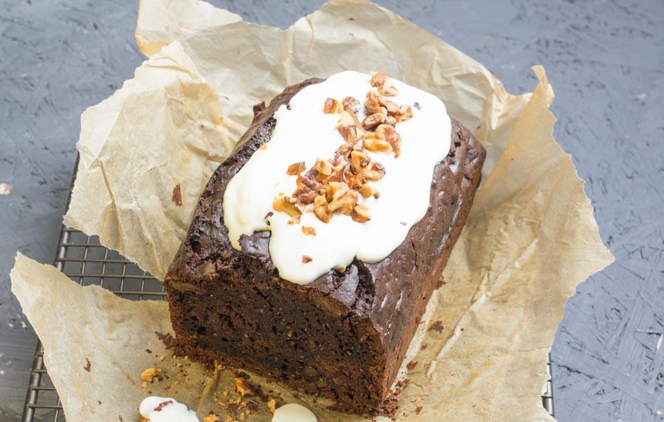 Zucchini: Schokoladen Walnuss Kuchen