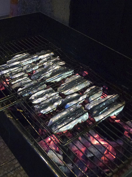 sardines sur le grill