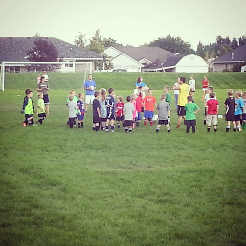 I know, lets add weekly goalie clinic to our weekly soccer practice and weekly soccer game schedule.