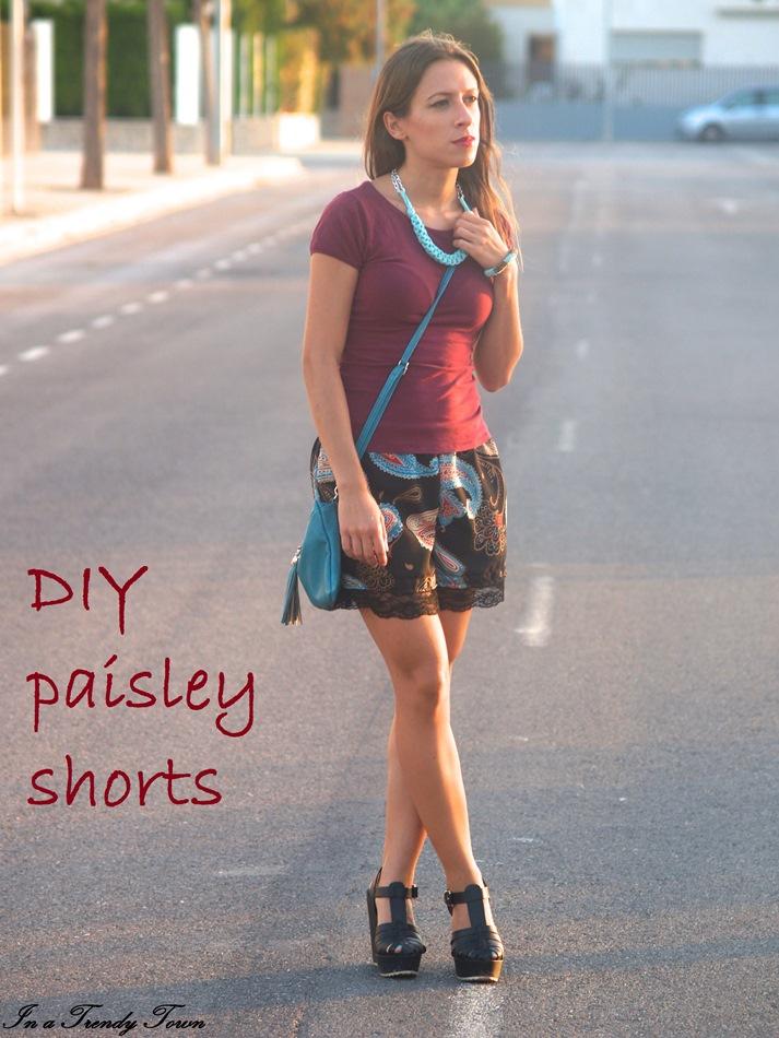 DIY paisley short