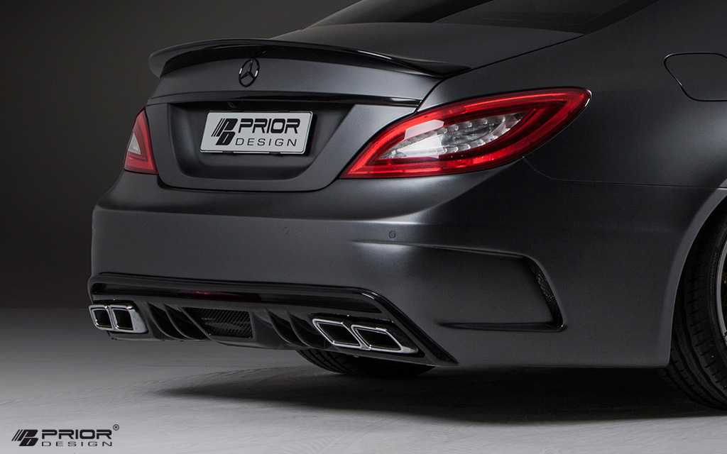 mercedes cls w218 body kit rear bumper w diffuser cls550. Black Bedroom Furniture Sets. Home Design Ideas