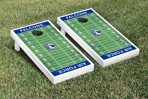 Air Force Academy Falcons Cornhole Game Set Football Field Version