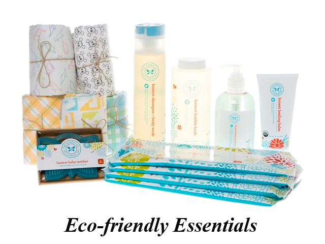 baby shower gift ideas, eco-friendly diapers, honest company, organic baby bath products