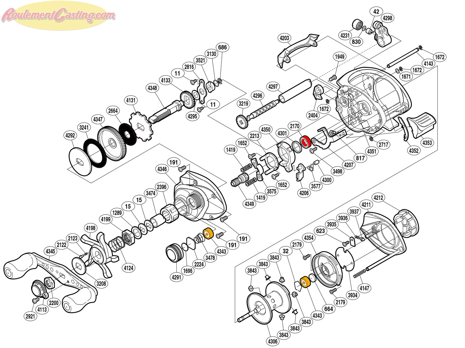Schéma Shimano 12' Citica 201G6