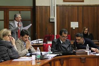 Matteo Colella durante un consiglio comunale