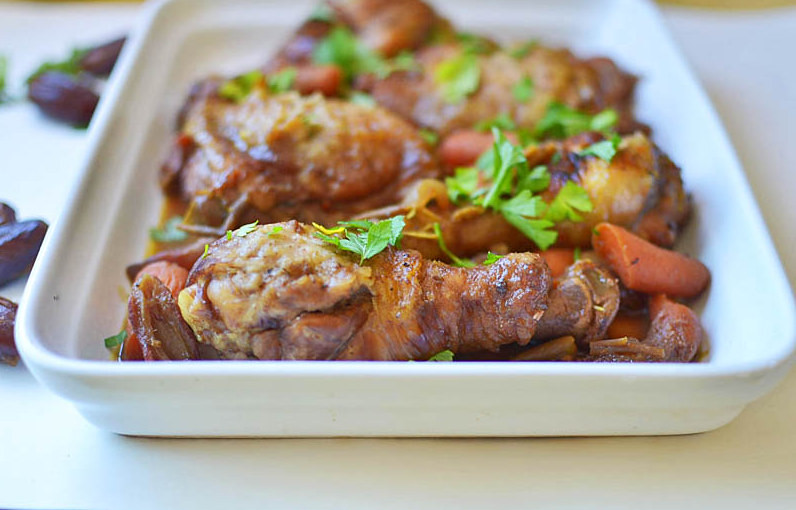 Chicken with Dates for Rosh Hashanah via LittleFerraroKitchen.com