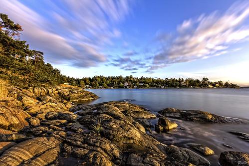 longexposure sea sky rocks sweden stockholm nd 1022mm archipelago eos550d