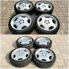 #For#Sale#Used#Parts#Mercedes#Benz#18#OEM#Genuine#AMG#MonoBlocks#Staggered#Wheel#Rim#R129#SLs#alyehliparts#alyehli#UAE#AbuDhabi#AlFalah#City  MERCEDES BENZ OEM USED PARTS - Set For 4 Genuine 18' MONOBLOCKS Staggered Wheels/Rims R129 SLs :  Front Part Num