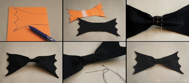 bat bow step by step diy halloween accessories