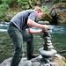 Erik stacking a cairn by cbowns