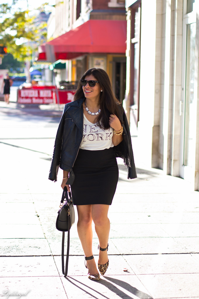 graphic tee, pencil skirt, leather jacket.jpg