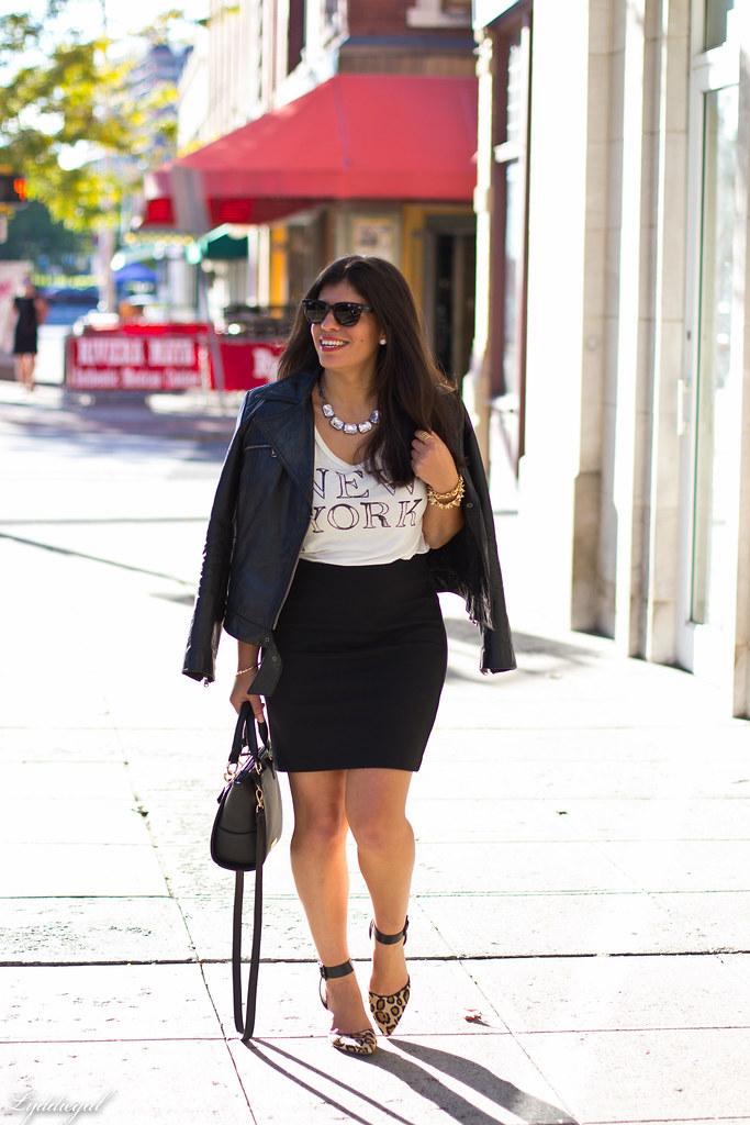 graphic tee, pencil skirt, leather jacket.jpg