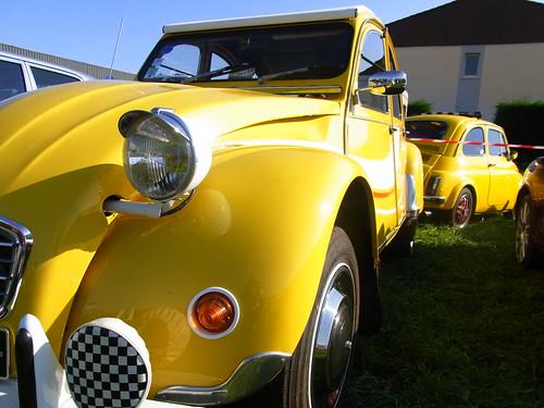 Effet miroir - Citroên 2cv vs Fiat 500