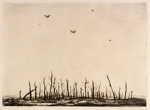 CRW-Nevinson,-That-Cursed-Wood,-1918,-drypoint,-25-x-34.7-cm.--Courtesy-of-Osborne-Samuel