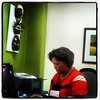 Working hard...Dr Marcia Forbes at her desk. #PhaseThree #videographyworkshops #goingtomeettheGG