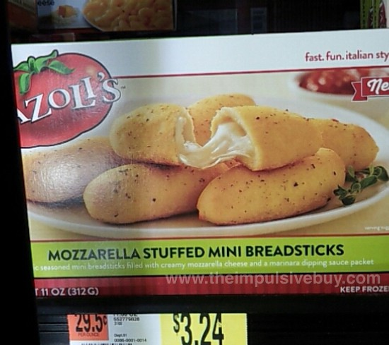 Fazoli's Mozzarella Stuffed Mini Breadsticks