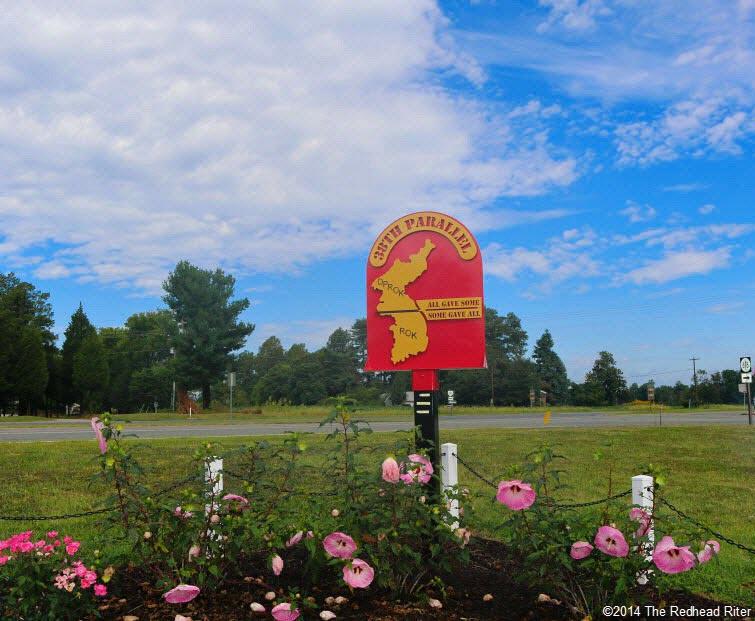 38th Parallel Memorial Garden sign in Milford Virginia