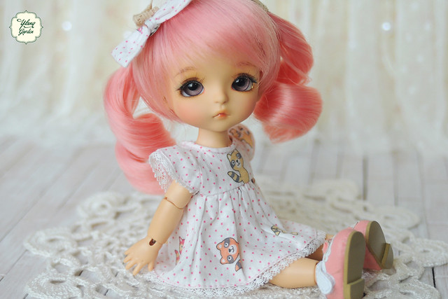 Lovely Fox Dress - Pink Color