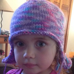 Almost done, seamed up the back. #knit #hat #gumdrop #yarn
