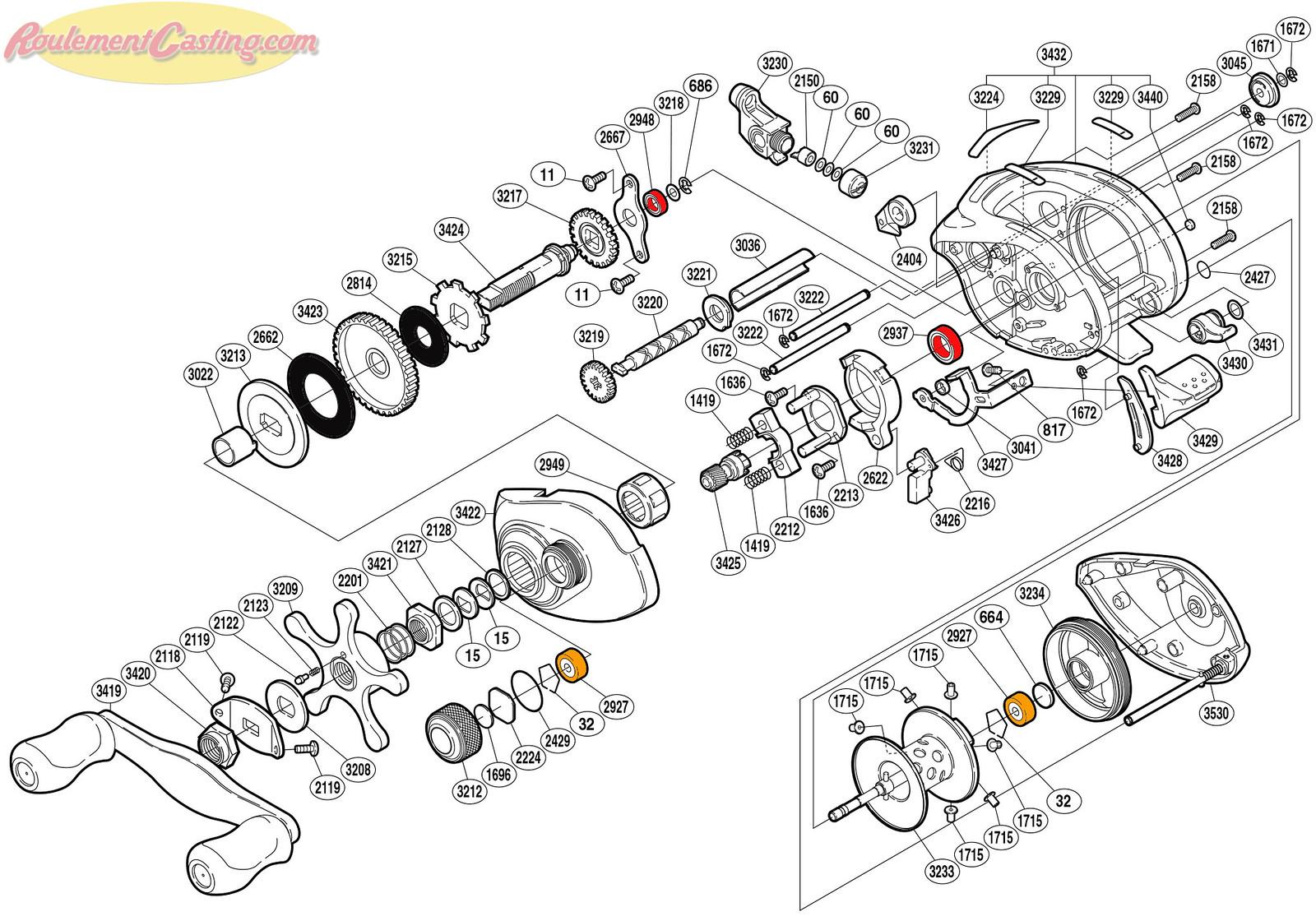 Schéma Shimano 05' Chronarch 101B